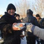 Рождественское поздравление бездомных подопечных Православной службы «Милосериде»