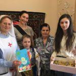 Поздравление с Пасхой Христовой бабушек и дедушек в Лесниковском дом-интернате